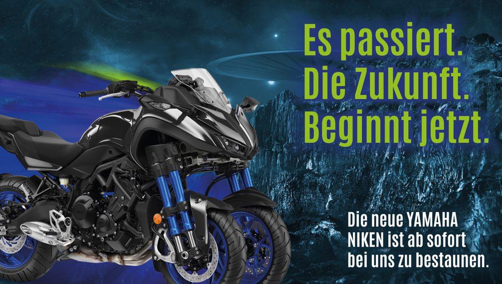 Yamaha, Niken, Dumke und Lütt, Probefahrt