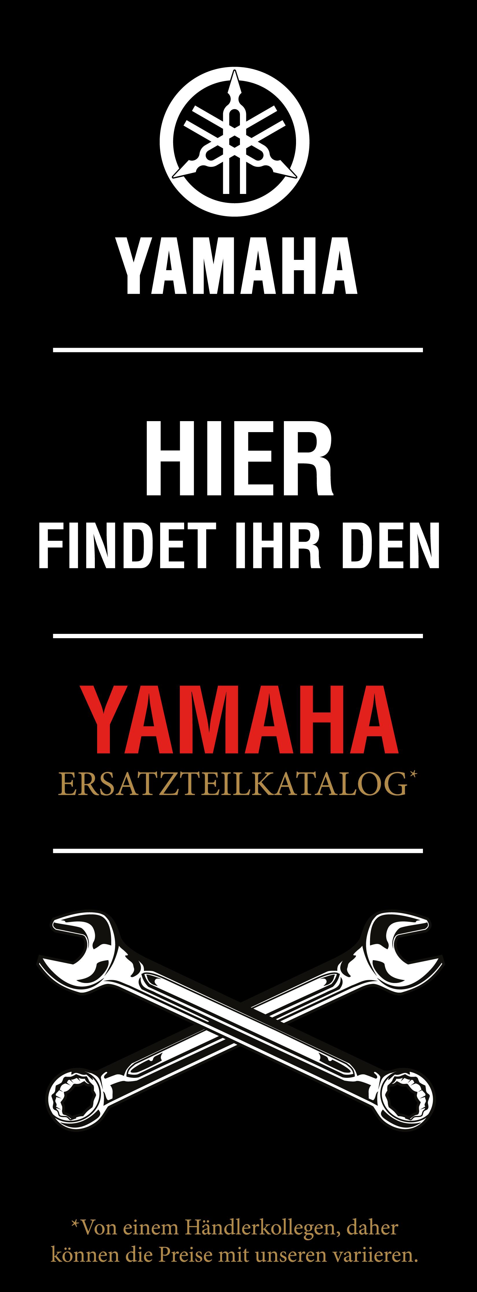 Yamaha Banner Website Ersatzteilwesen